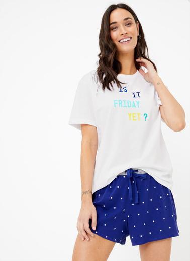 Marks & Spencer Pijama Üst Beyaz